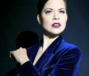 Model as Muse -Tara Papanicolas in 'Navy & Velvet'