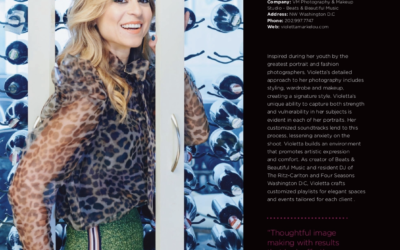 Violetta Markelou and VM Photography Studio featured in DC Modern Luxury Magazine's Annual Dynamic Women Of Washington